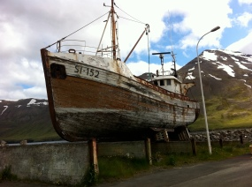 Old Icelandic Fishing Boat