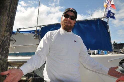 Brent shows off the Regalia blow out sale sweatshirt