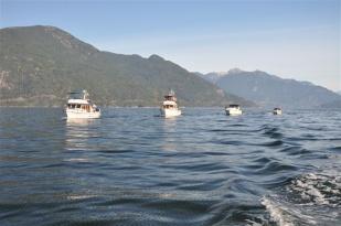 Burnaby Squadron Boats Cruising