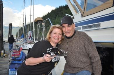 Jenn and Rob with Bent Member Award