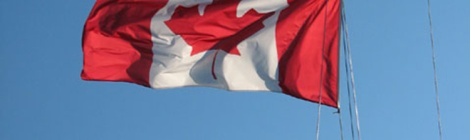 Sailboat Canada Flag