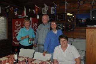 Bonnie, Pat, Nancy, Bev Await theTurkey