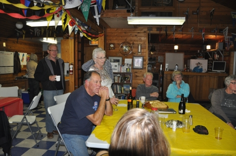 The Group Intently Watching Betty's 50th Anniversary Video