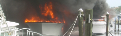 Electrical Boat Fire