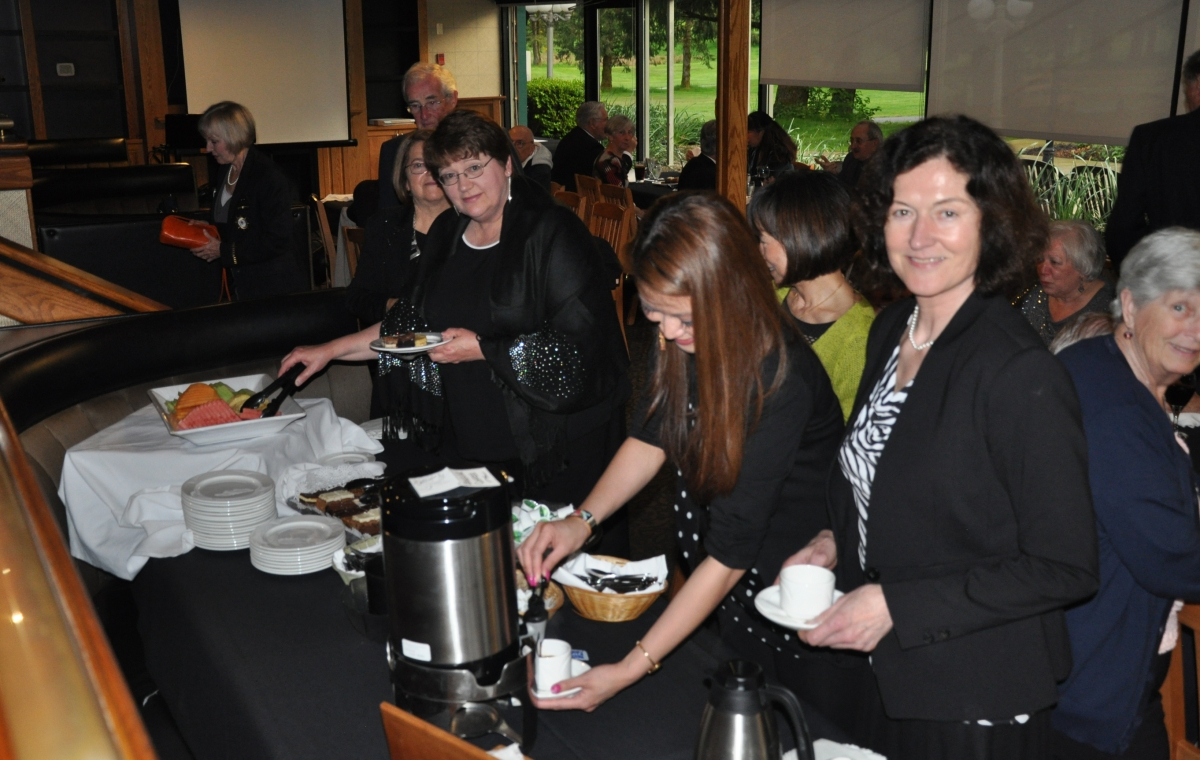 A First; All Women at the Dessert Buffet