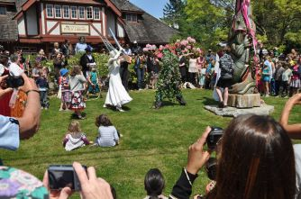 The Bowen Island Green Man Festival Battle Between the Ice Goddess of Winter and the Green Man of Spring