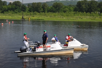 Bob D and Bill G Manning the Referee Boats