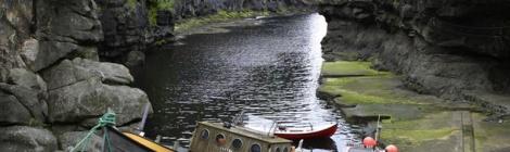 Wooden Boat at Gjogv, Faroe Islands