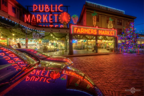 Pike Place Market at Christmas