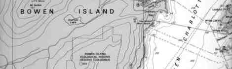 Bowen Island ~ Old Chart